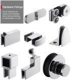 """Верхнее качество 48 """" Frameless прикрепило на петлях приложение ливня двери с оборудованием крома"""