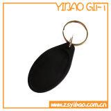 Corrente chave em branco do PVC na forma oval (YB-Pk-44)
