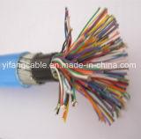 Kabel van de telefoon 75 Paar 0.8mm Schild Cu/PE/Aluminum Mylar/Swa/PVC