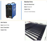 Macchina per il taglio di metalli del plasma di CNC della Cina con la taglierina del plasma di CNC