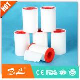 Oxyde de zinc le ruban de coton de plâtre avec couvercle rouge et blanc de base