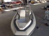 barca di 19feet Rib580c con la barca gonfiabile del guscio rigido della vetroresina del Ce con il peschereccio del motore esterno