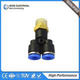 Guarnición rápida neumática de cobre amarillo del conector de las instalaciones de tuberías