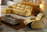 L Form-Lederrecliner-Sofa (3739L)
