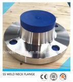 Aço inoxidável 321 da garganta da soldadura do ANSI flange de 304 tubulações