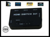 Conecte los cables HDMI HDMI Switch 3*1 (KS--HS03)