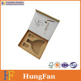 Коробка вина бумажной завертчицы подарка качества Hight с магнитным закрытием