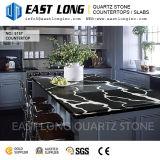 Bancadas pretas personalizadas da pedra de quartzo de Calacatta Aartificial