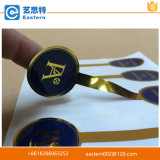 中国の製造者は印刷されたペーパー金ホイルのステッカーをカスタム設計する