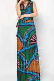 Petite Minimum Cire d'impression personnalisée tissu robes de conception de l'Afrique