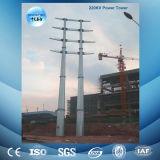 torre de acero galvanizada 110kv de la transmisión del ángulo