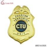 L'émail dur insigne de police pour le souvenir d'Or (LM1756)