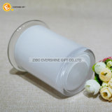 6oz白いカラーおよび明確なふたが付いているガラス隠匿物の瓶