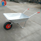 Wheelbarrow chapeado do mercado 65L zinco europeu