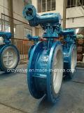 Клапан-бабочка литой стали Dn1000 Py25 API/DIN/GOST ексцентрическая (D343H-DN1000-25C)