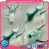 Maschera di ossigeno medica a gettare del Ce con il nebulizzatore ed il tubo