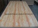 1220X2440X18m m madera contrachapada brillante de la melamina de la prensa de dos veces alta de la base fresca caliente del álamo para la decoración