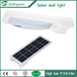En línea Amazon 5W LED Solar Lampara de pared Fence Parking patio jardín de luz de la calle