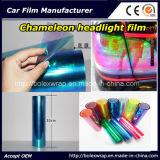 De Film van de Koplamp van het Kameleon van de manier, de Lichte Sticker van de Auto, Lichte het Kleuren van de Auto van het Kameleon Film