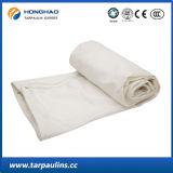 Tela incatramata durevole impermeabile bianca con il rivestimento organico del silicone