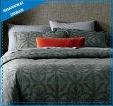 7 Reeks van het Dekbed van de Polyester van het Patroon van de Jacquard van het stuk de Grijze