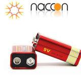 Carbone-zinc de la batterie 9V 6F22 Carbone-zinc de la batterie à usage intense