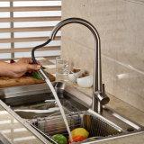 Choisir le robinet chaud d'eau froide de cuisine en laiton de traitement