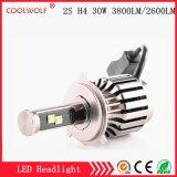 Faro delle lampadine del faro dell'automobile LED di vendita diretta 2s H4 30W 3800lm LED della fabbrica con il prezzo competitivo