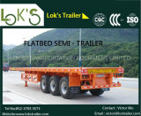 Semi-Trailer Flatbed 3axles de 20FT (pneumáticos dobro)