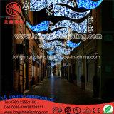 [120و] [لد] خارجيّ عبر شارع عيد ميلاد المسيح إعلان ضوء