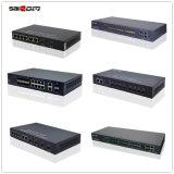 Ethernet das portas de China 6 e interruptor de rede ótico do acesso de 4 portas da fibra