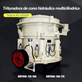 Triturador do cone pela lata hidráulica que esmaga o material