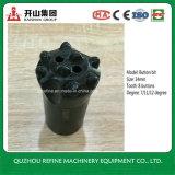 Bico de botão de liga de carbono cônico de 34mm 8 para mineração