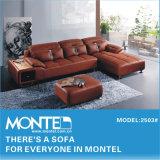 Sofá de canto em pele genuína, mobiliário moderno Design Sofá
