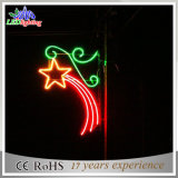 Lumière colorée s'arrêtante de motif de la décoration DEL de rue d'étoiles de Pôle