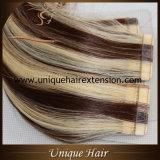 Nastro di punto culminante estratto doppio europeo di Remy nelle estensioni dei capelli