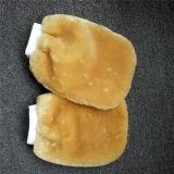 Реальные Mitt шерсть шерстяного покрова в режиме реального промойте Mitt Sheepskin мойки кухонные рукавицы