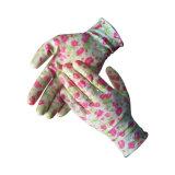 signora Polyester Nitrile Flower Gloves del contrassegno privato 13G per il giardino