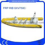 Bateau de côte de la coque Sxv750c FRP de fibre de verre (CE)