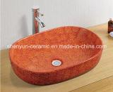 Bacia de lavatório de lavagem de cerâmica com lavatório (MG-0018)