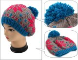 POM POMの編まれた帽子のジャカード手のニットの帽子