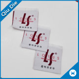Escritura de la etiqueta tejida aduana plegable centro de la alta calidad para la ropa