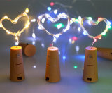 Cadena de Cable de cobre de LED de luz con tapón de botella de vidrio artesanal