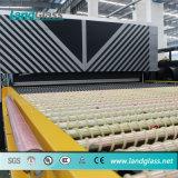 Landglass plano horizontal de procesamiento de vidrio templado de la máquina