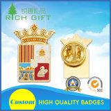Os emblemas materiais do espelho do fabricante do ímã do esmalte feito sob encomenda do metal com acessórios suportam sobre