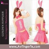 Costume senza bretelle del gioco della signora Sexy Uniform Temptation Role del coniglietto (KUB0-002)