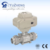3PC Stainless Steel Flanged Ball Valve con Electrical Actuator