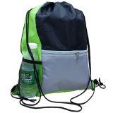 Polyester Bag, Drawstring Bag, Reflective Belt Bag, School Bag, Bag Sport, Knitting machine Drawstrings Bag