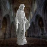 Statua bianca della st Mary del marmo, scultura religiosa T-7089