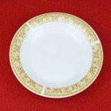 Piatto di ceramica del Omega di stampa dell'oro